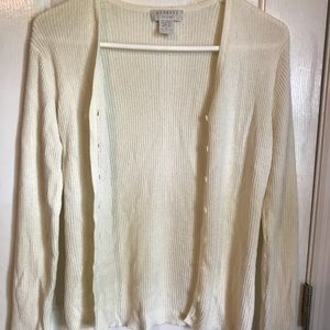 Express Tricot pearl white cardigan